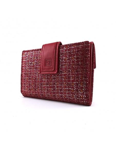 Monedero Mujer Mediano    Cartera Mujer   Hecho España   RFID   Casanova   Billetera de Piel   Ref. 30014 rojo