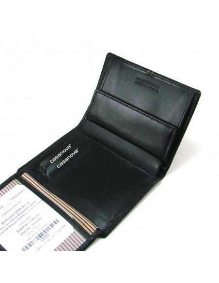 Cartera billetera de hombre de piel marron