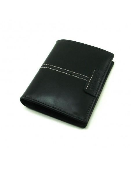 Mini cartera monedero para hombre de piel negro