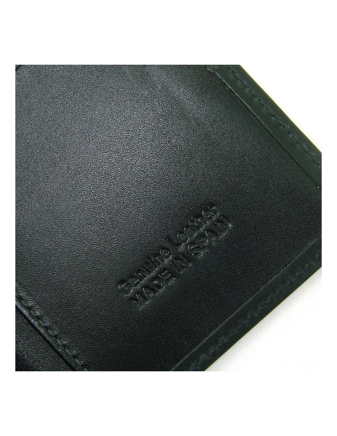 495f9e30a Mini cartera monedero para hombre de piel negro
