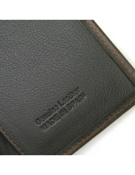 Cartera billetera hombre en piel marron